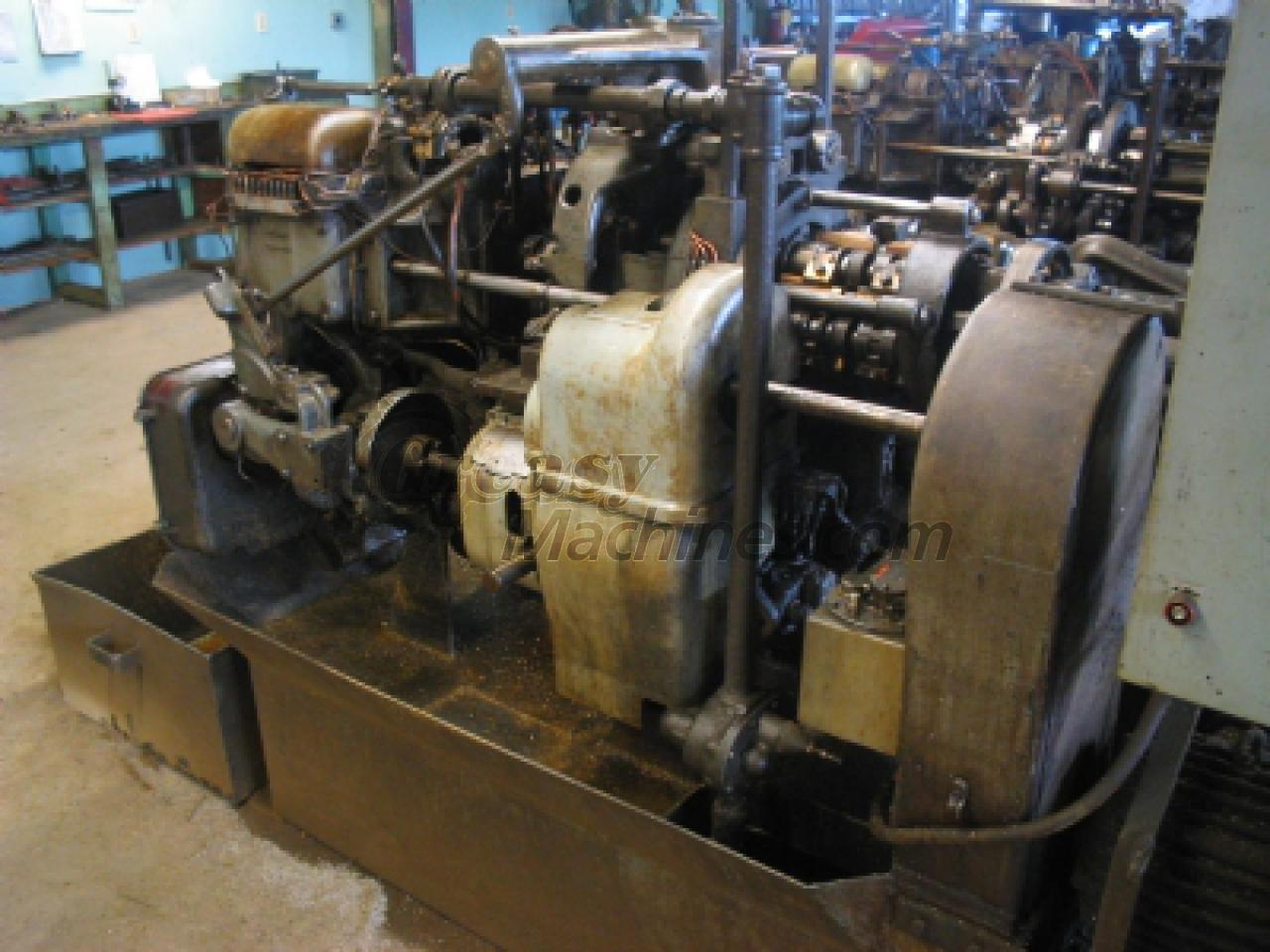 Davenport automatic screw machine, Model B, over size multi spindle.
